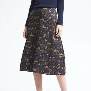 3/$30 Banana Republic Stitched Floral Midi Skirt
